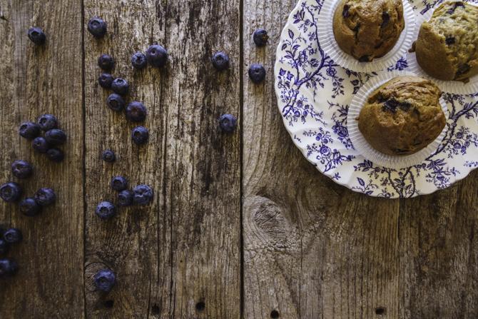 Muffin de arándanos sin gluten y sin lácteos de Milola