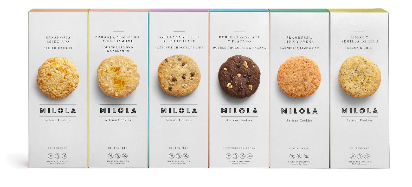 milola gluten-free cookies six flavours