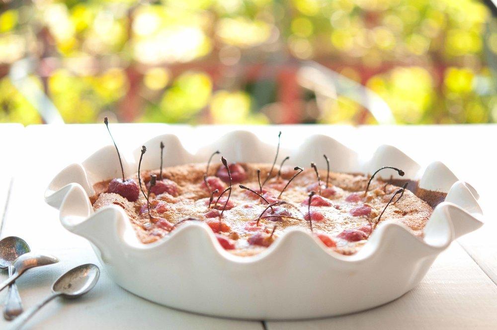 gluten-free cherry clafoutis recipe