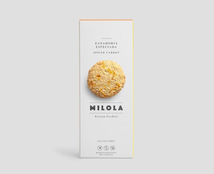 Galeta sense gluten i sense làctics de pastanaga Milola