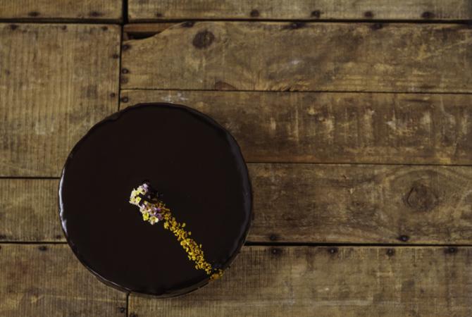 Sacher sin gluten y sin lácteos de Milola