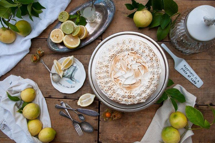 pastel de limón y merengue sin gluten y sin lácteos de Milola