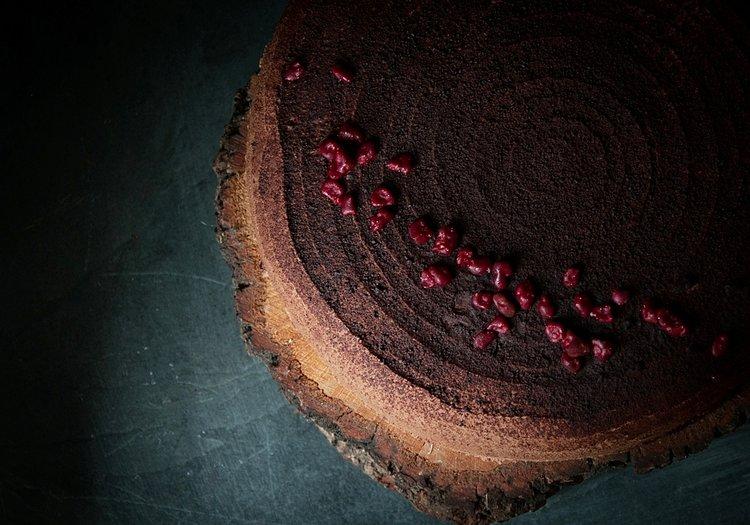 Pastel de Chocolate y frambuesa sin gluten y sin lácteos de Milola