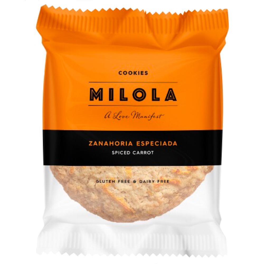 cookie sense gluten de pastanaga especiada de Milola