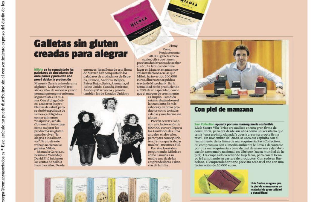 La Vanguardia: galletas sin gluten creadas para alegrar.
